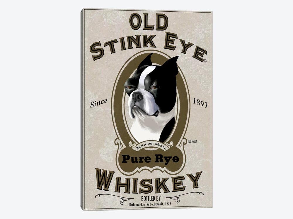 Old Stink Eye Whiskey by Brian Rubenacker 1-piece Canvas Print