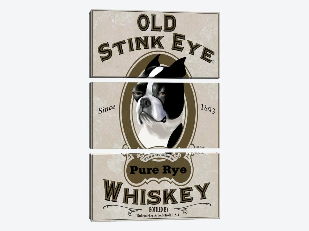 Old Stink Eye Whiskey by Brian Rubenacker 3-piece Canvas Art Print