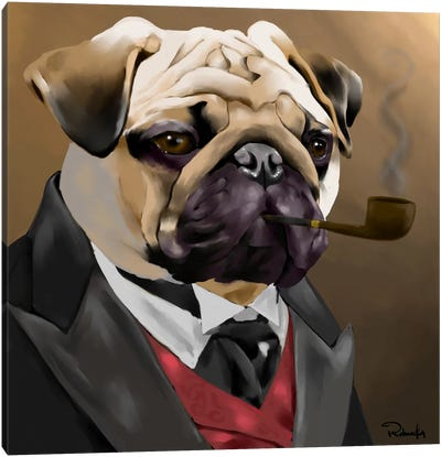 The Sophisticated Pug Canvas Art Print