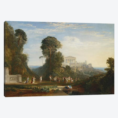 The Temple of Jupiter Panellenius Canvas Print #1212} by J.M.W. Turner Canvas Art Print
