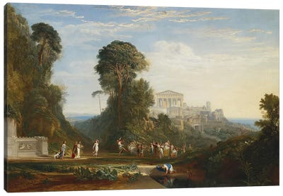 The Temple of Jupiter Panellenius by J.M.W Turner Canvas Art Print