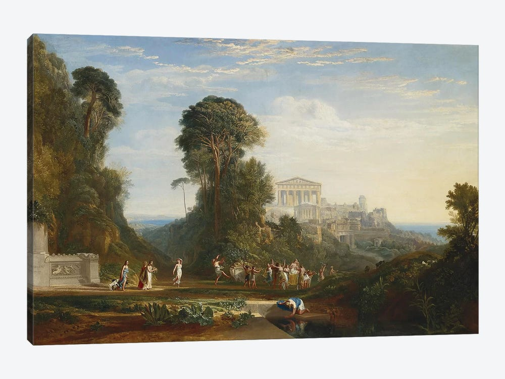 The Temple of Jupiter Panellenius by J.M.W. Turner 1-piece Canvas Artwork