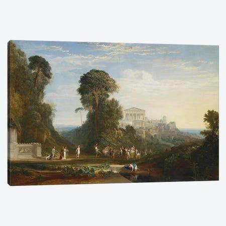 The Temple of Jupiter Panellenius Canvas Print #1212} by J.M.W. Turner Canvas Art Print