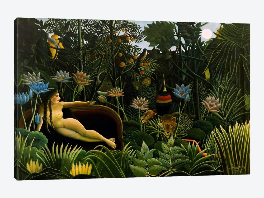 The Dream, 1910 by Henri Rousseau 1-piece Canvas Art Print