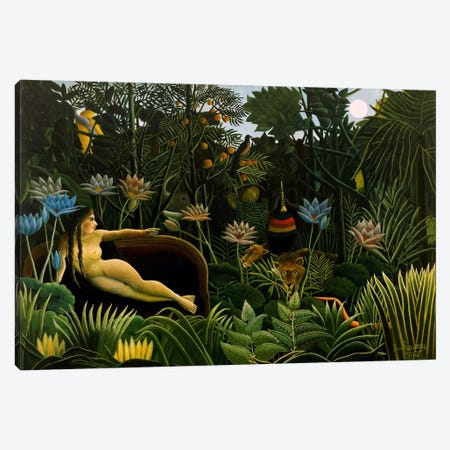 The Dream, 1910 3-Piece Canvas #1215} by Henri Rousseau Canvas Artwork