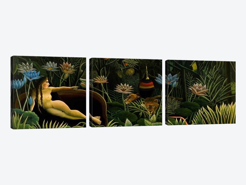The Dream by Henri Rousseau 3-piece Canvas Artwork