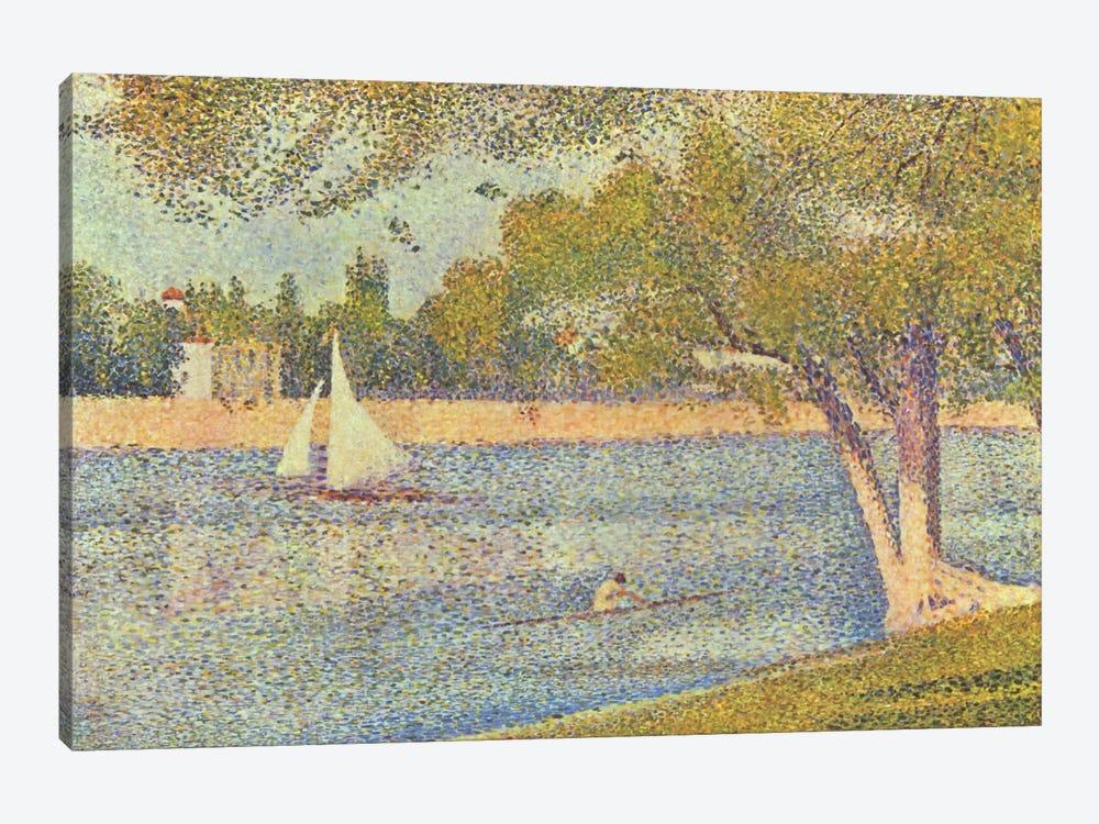 Banks of Seine (Seine at Grande Jatte) (Die Seine an der Grand JatteFrühling) by Georges Seurat 1-piece Art Print