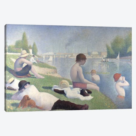 Bathers at Asnieres 1884 Canvas Print #1225} by Georges Seurat Art Print