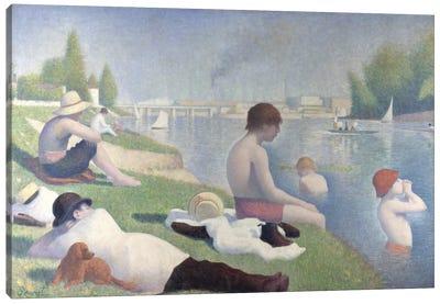 Bathers at Asnieres 1884 Canvas Art Print