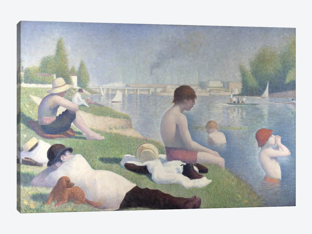 Bathers at Asnieres 1884 by Georges Seurat 1-piece Canvas Art