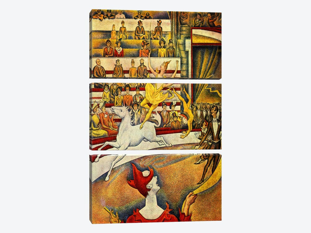 The Circus 1891 by Georges Seurat 3-piece Canvas Art Print