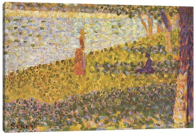 Women on the River Bank (Femmes au bord de l'eau) 1886 by Georges Seurat Art Print