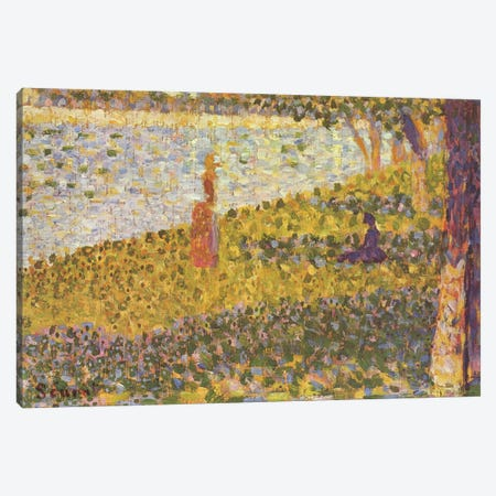 Women on the River Bank (Femmes au bord de l'eau) 1886 Canvas Print #1227} by Georges Seurat Art Print