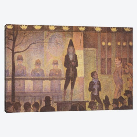 Circus Sideshow (Parade de Cirque) 1887-1888 Canvas Print #1228} by Georges Seurat Canvas Art
