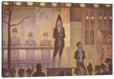 Circus Sideshow (Parade de Cirque) 1887-1888 by Georges Seurat Canvas Art