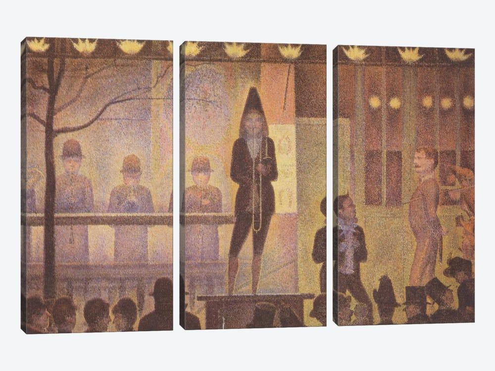 Circus Sideshow (Parade de Cirque) 1887-1888 by Georges Seurat 3-piece Canvas Art Print