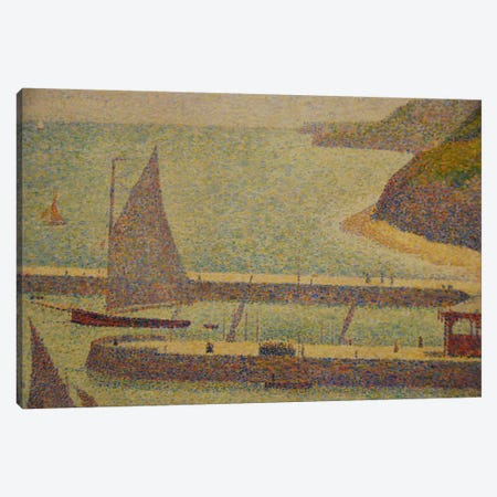 Port En Bressin Canvas Print #1229} by Georges Seurat Canvas Art