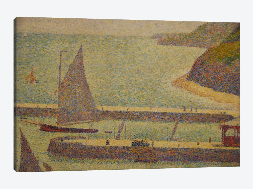 Port En Bressin by Georges Seurat 1-piece Canvas Art