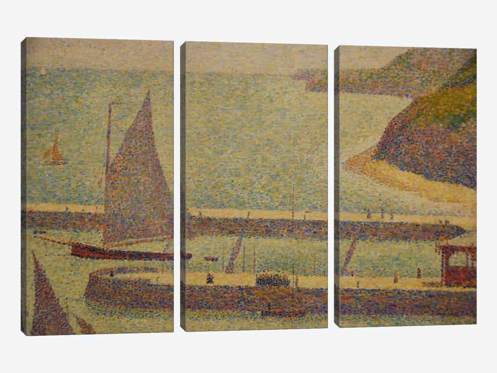 Port En Bressin by Georges Seurat 3-piece Canvas Artwork