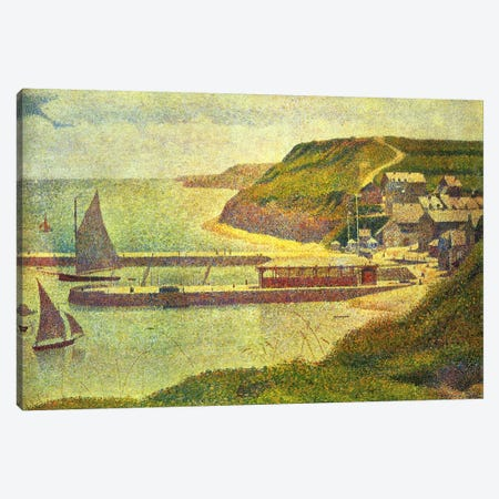 Port-en-Bessin 1888 Canvas Print #1230} by Georges Seurat Art Print