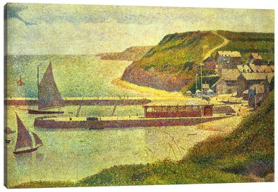Port-en-Bessin 1888 by Georges Seurat Art Print