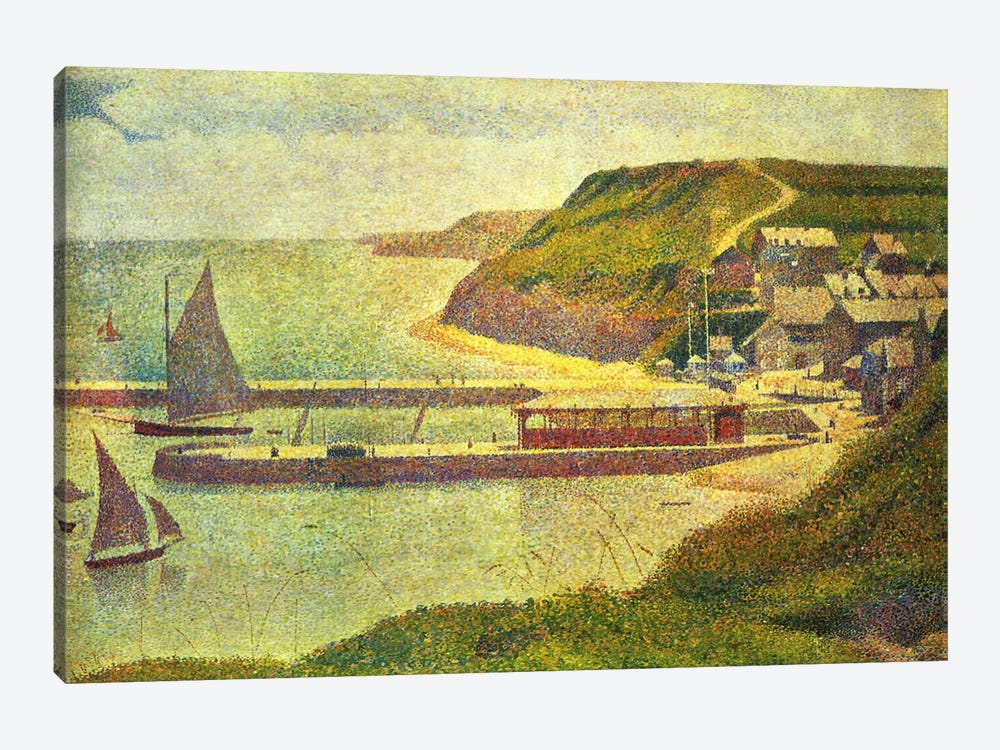 Port-en-Bessin 1888 by Georges Seurat 1-piece Canvas Artwork
