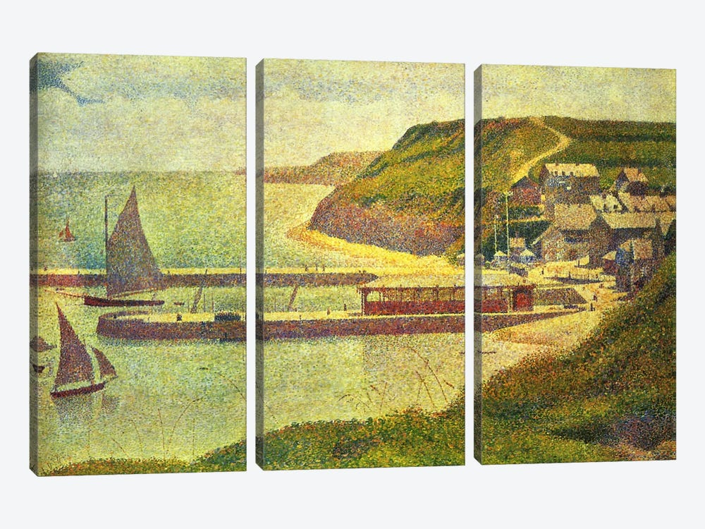 Port-en-Bessin 1888 by Georges Seurat 3-piece Canvas Art