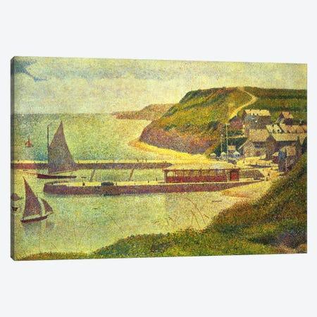 Port-en-Bessin 1888 Canvas Print #1230} by Georges Seurat Art Print