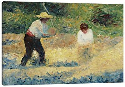The Stone Heap (Le Tas De Pierres) Canvas Art Print