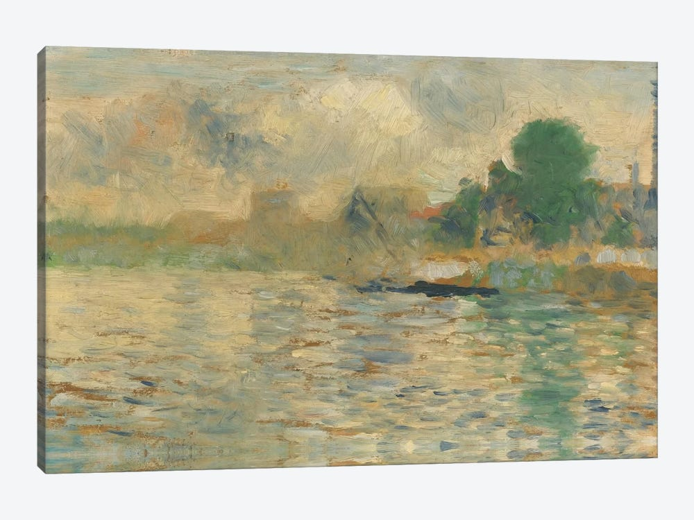 Berge De La Seine 1884 by Georges Seurat 1-piece Canvas Artwork