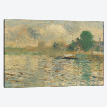 Berge De La Seine 1884 Canvas Print #1232} by Georges Seurat Canvas Art Print