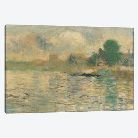 Berge De La Seine 1884 Canvas Print #1232} by Georges Seurat Canvas Art Print