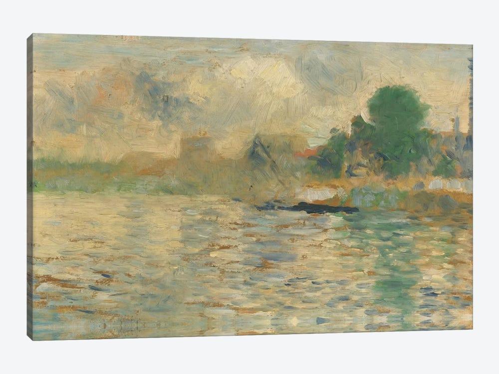 Berge De La Seine 1884 by Georges Seurat 1-piece Canvas Artwork