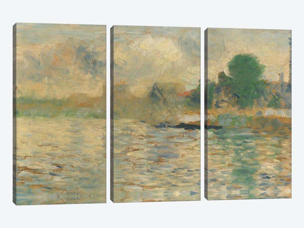 Berge De La Seine 1884 by Georges Seurat 3-piece Canvas Art