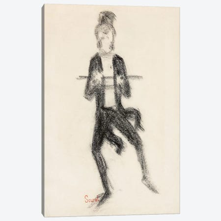 Le Danseur A La Canne 1889 Canvas Print #1233} by Georges Seurat Canvas Art Print
