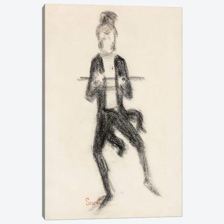Le Danseur A La Canne 1889 Canvas Print #1233} by Georges Seurat Canvas Art Print