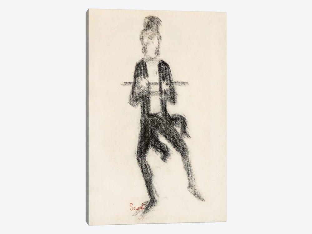 Le Danseur A La Canne 1889 by Georges Seurat 1-piece Art Print