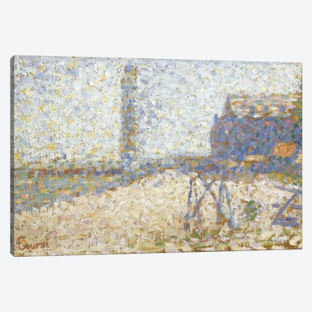 L'hospice Et Le Phare De Honfleur 1886 Canvas Print #1236} by Georges Seurat Canvas Art