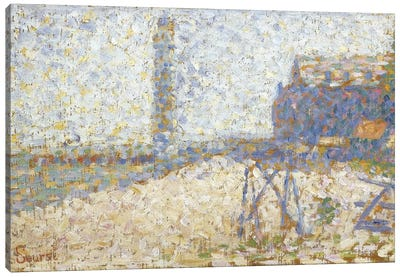 L'hospice Et Le Phare De Honfleur 1886 by Georges Seurat Canvas Art