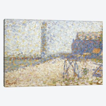 L'hospice Et Le Phare De Honfleur 1886 Canvas Print #1236} by Georges Seurat Canvas Art