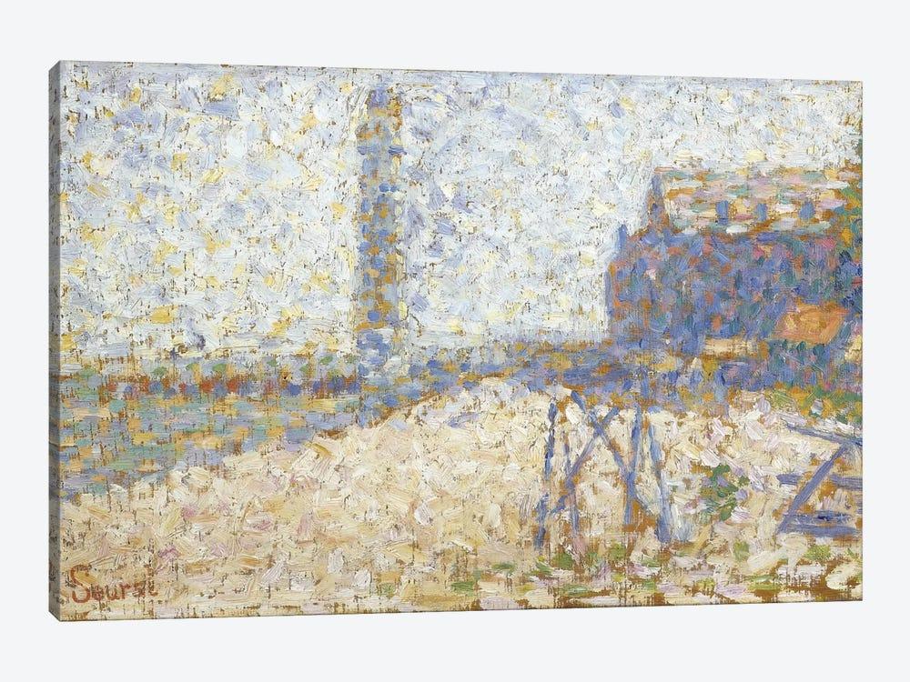 L'hospice Et Le Phare De Honfleur 1886 by Georges Seurat 1-piece Canvas Art