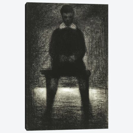 Maurice Appert (Garconnet Assis) 1884 Canvas Print #1237} by Georges Seurat Canvas Wall Art
