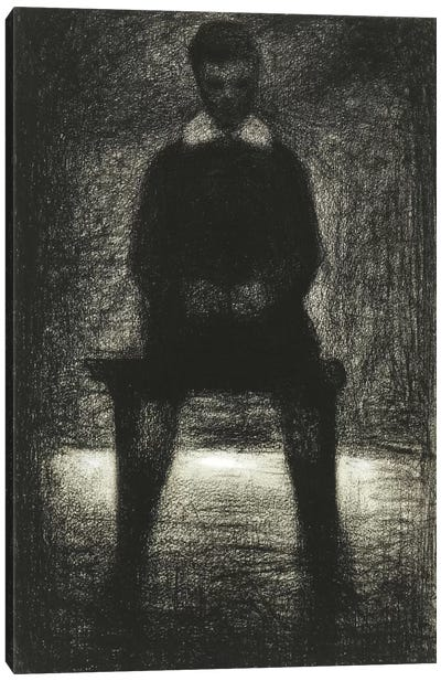 Maurice Appert (Garconnet Assis) 1884 by Georges Seurat Canvas Wall Art