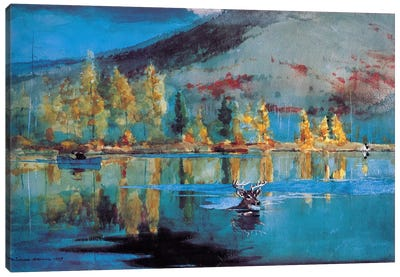 An October Day 1889 Canvas Art Print