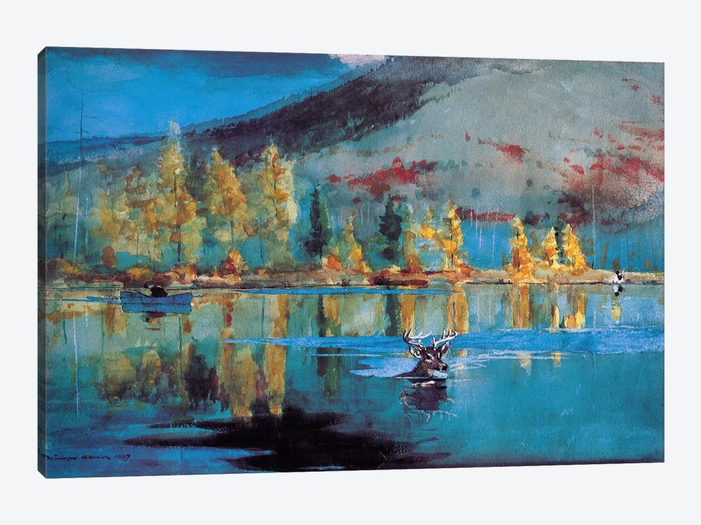 An October Day 1889 by Winslow Homer 1-piece Canvas Artwork