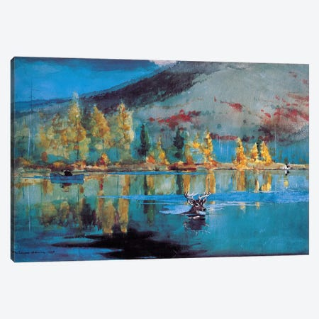 An October Day, 1889 Canvas Print #1241} by Winslow Homer Canvas Wall Art