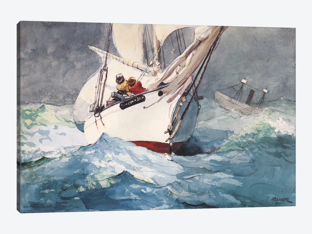Diamond Shoal, 1905 by Winslow Homer 1-piece Canvas Artwork