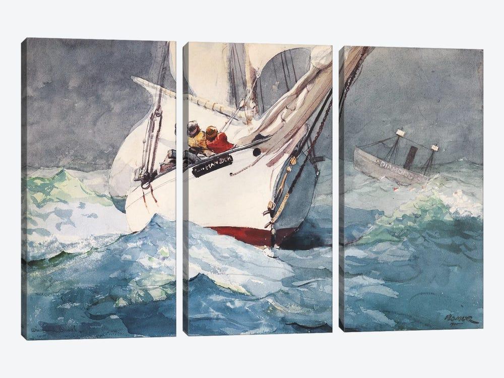 Diamond Shoal, 1905 by Winslow Homer 3-piece Canvas Artwork
