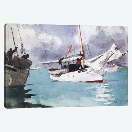 Fishing Boats, Key West 1903 Canvas Print #1245} by Winslow Homer Art Print