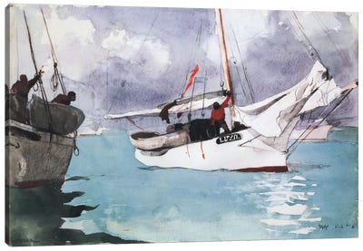 Fishing Boats, Key West 1903 Canvas Art Print